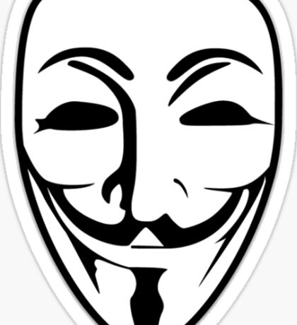 Anonymous/Guy Fawkes Mask(White) Sticker