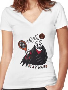 Play Hard Women's Fitted V-Neck T-Shirt