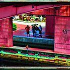 Under the Pink Bridge by GolemAura
