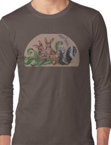 Woodland Tea Party with friends Long Sleeve T-Shirt