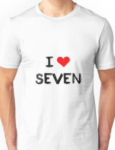 I love Seven , Mystic Messenger Unisex T-Shirt