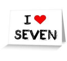 I love Seven , Mystic Messenger Greeting Card