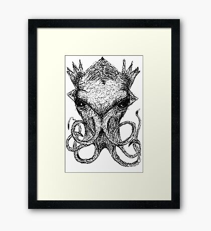 Cthulhu Scratch  Framed Print