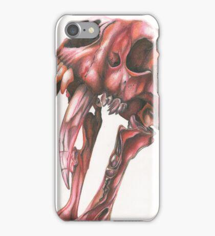 Red Saber Tooth Tiger Skull iPhone Case/Skin