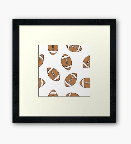 american football doodle pattern Framed Print