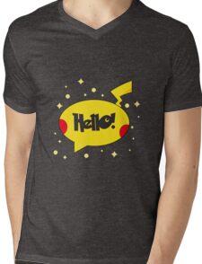 Pika show Mens V-Neck T-Shirt