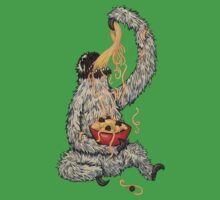 A Sloth Eating Spaghetti Kids Clothes
