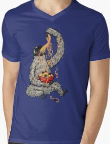 A Sloth Eating Spaghetti Mens V-Neck T-Shirt