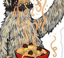 A Sloth Eating Spaghetti Sticker