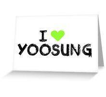 I love Yoosung , Mystic Messnger Greeting Card