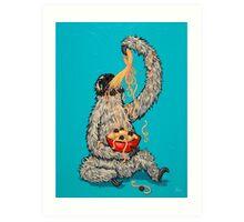 A Sloth Eating Spaghetti Art Print