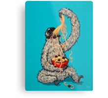 A Sloth Eating Spaghetti Metal Print