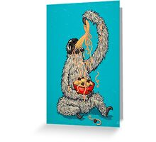 A Sloth Eating Spaghetti Greeting Card