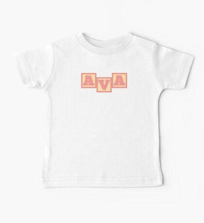 Baby Ava in alphabet building blocks Baby Tee