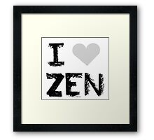 I love Zen , Mystic Messenger Framed Print