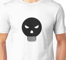 Angry Minimal skull art Unisex T-Shirt