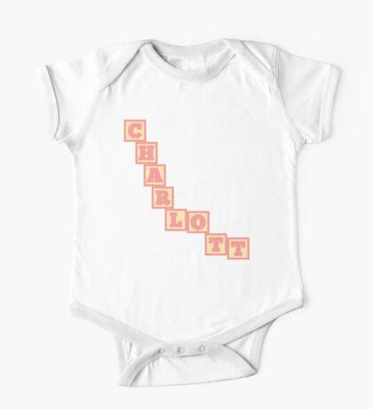 Baby Charlott in alphabet building blocks One Piece - Short Sleeve