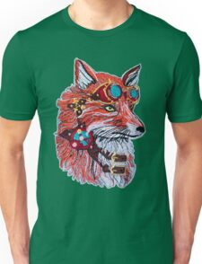 Fox wearing Goggles Unisex T-Shirt