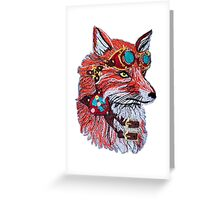 Fox wearing Goggles Greeting Card