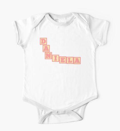 Baby Daniela in alphabet building blocks One Piece - Short Sleeve