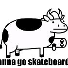 Wanna go skateboards? asdf cow by SpiderDann