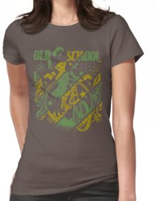 Old School Vintage Womens Fitted T-Shirt