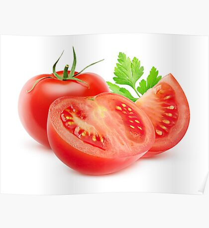 Cut tomatoes Poster