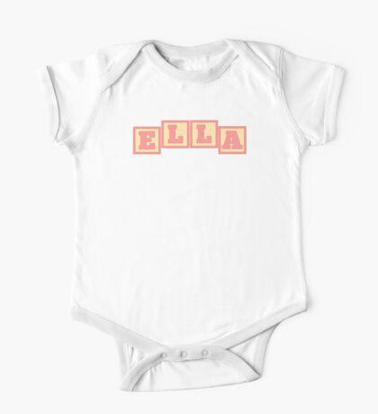 Baby Ella in alphabet building blocks One Piece - Short Sleeve