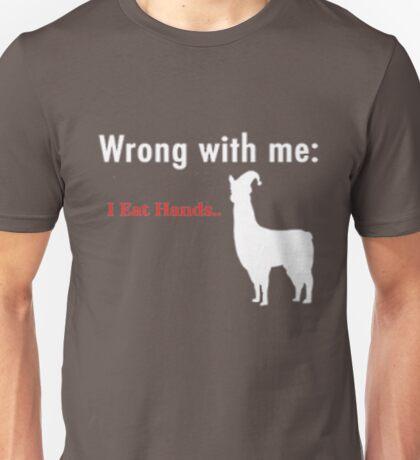 Llamas With Hats - I Eat Hands Unisex T-Shirt
