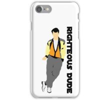 Ferris Bueller Day off Righteous Dude 80s movie art iPhone Case/Skin