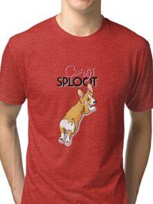 Sploot! Corgi style Tri-blend T-Shirt
