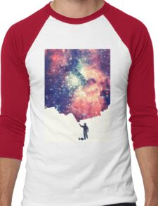 Painting the universe (Colorful Negative Space Art) Men's Baseball ¾ T-Shirt