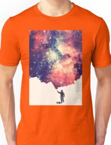 Painting the universe (Colorful Negative Space Art) Unisex T-Shirt