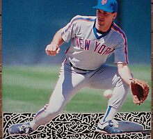 244 - Keith Miller by Foob's Baseball Cards