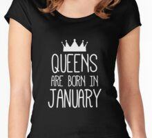 Queens are born in January 1 Women's Fitted Scoop T-Shirt