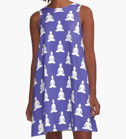 Buddha seamless pattern A-Line Dress