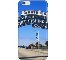 Route 66 - Santa Monica Pier iPhone Case/Skin