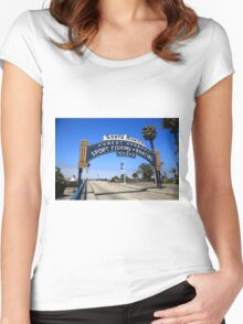 Route 66 - Santa Monica Pier Women's Fitted Scoop T-Shirt
