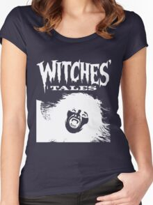 Witches' Tales (White) Women's Fitted Scoop T-Shirt