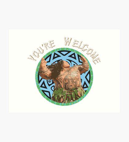 Maui - You're Welcome Art Print