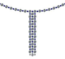 Sapphire Big and Small Necklace by eldonshorey