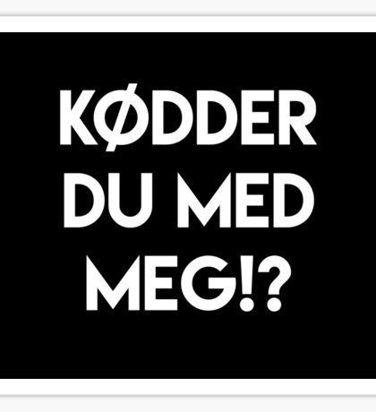 KØDDER 2 Sticker