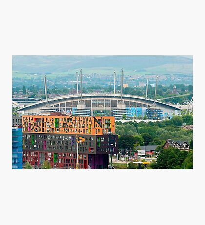 Etihad Stadium, the home of  Manchester City Football Club Photographic Print