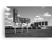 Route 66 Drive-In Theater Canvas Print