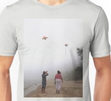 Playing with Kites in Fog Unisex T-Shirt