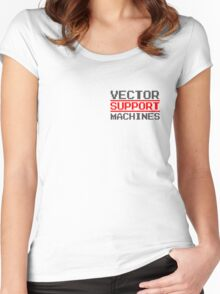 Support vector machines logo (8-bit) Women's Fitted Scoop T-Shirt