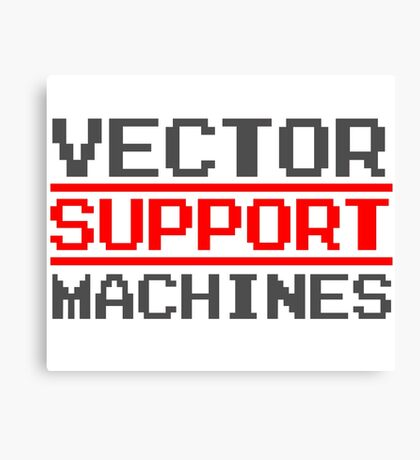 Support vector machines logo (8-bit) Canvas Print