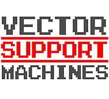 Support vector machines logo (8-bit) Photographic Print