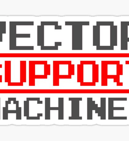 Support vector machines logo (8-bit) Sticker