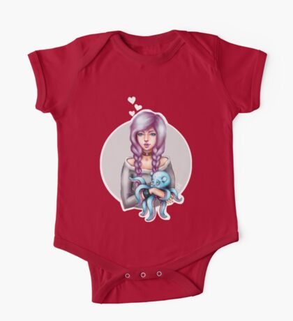 A Girl and Her Octopus One Piece - Short Sleeve
